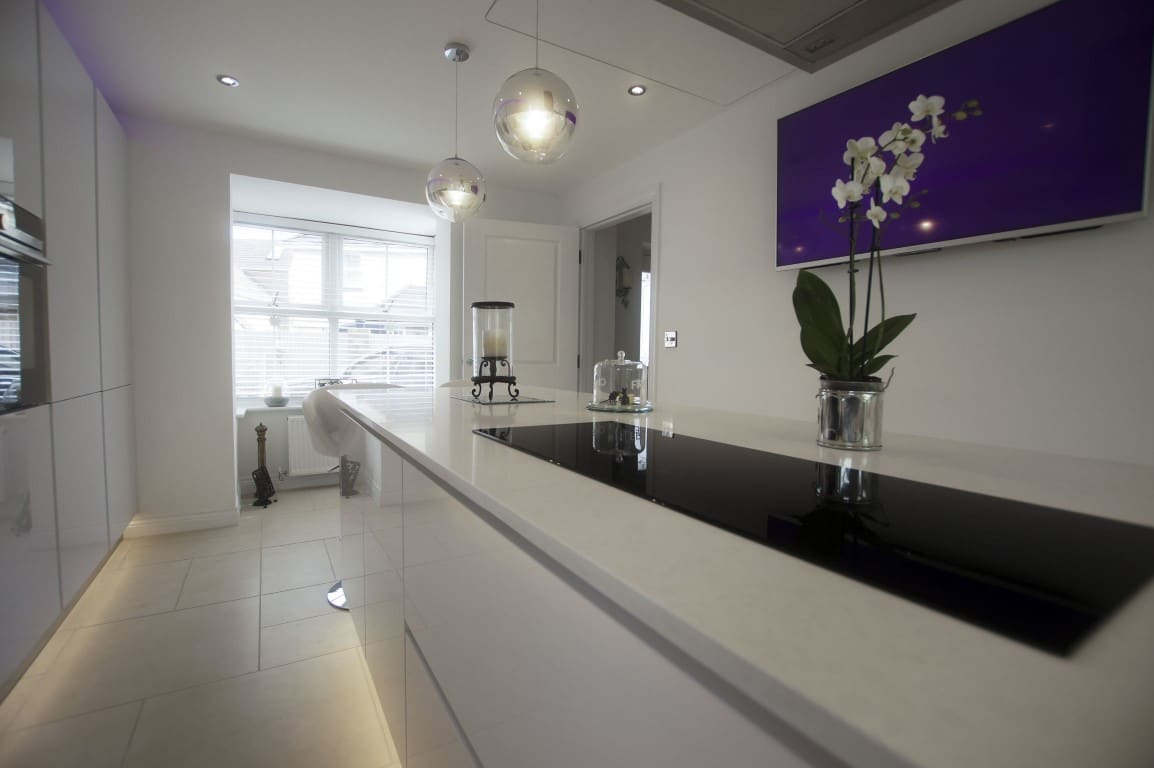 kitchen worktop example in quartz