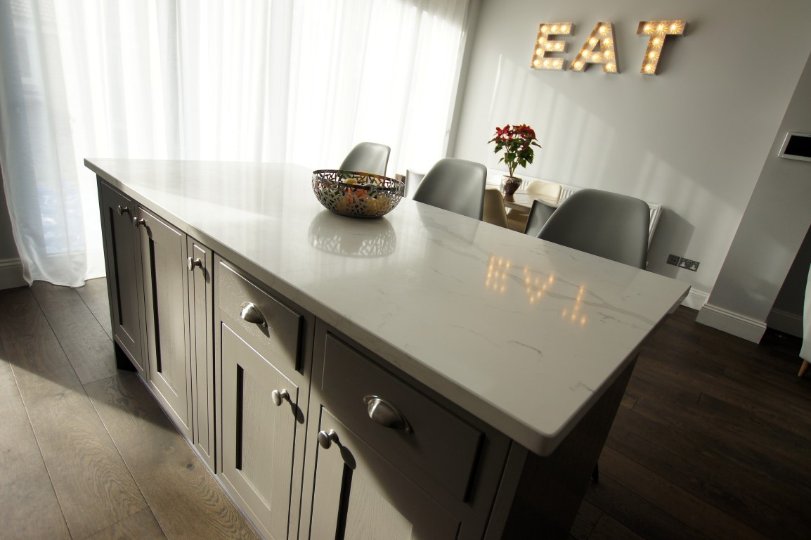 Using your dining lighting to illuminate the kitchen