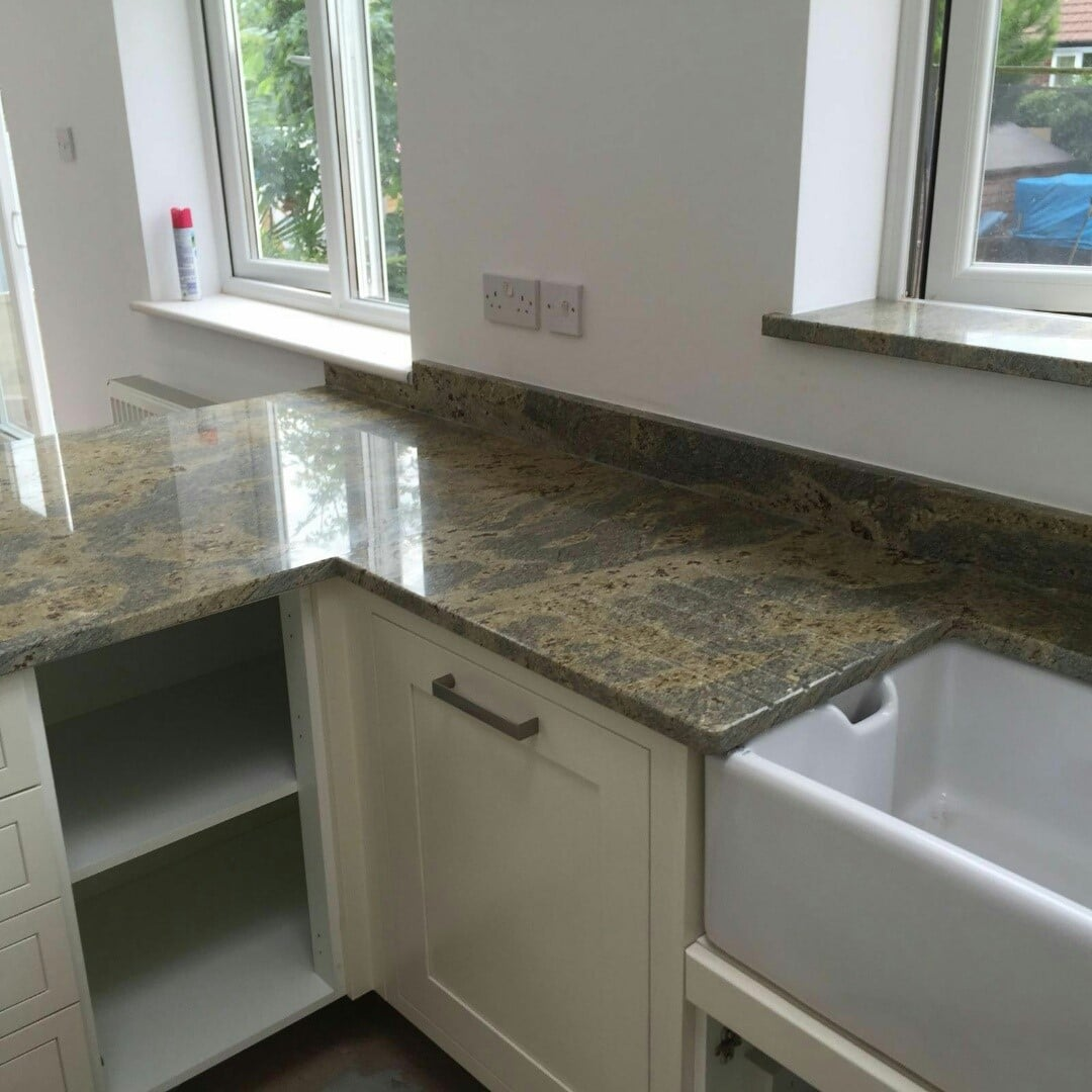 Granite Worktops Kitchen Gold Granite Rock And Co Granite Ltd