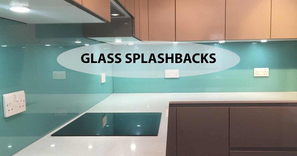 coloured glass splashbacks in a kitchen
