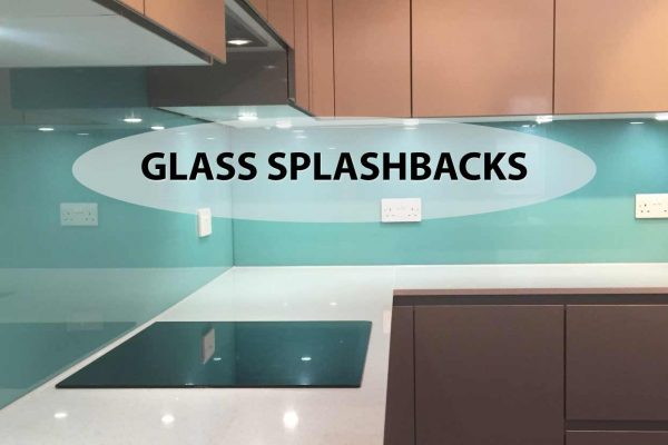 coloured glass splashbacks in a kitchen