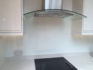 diamond white crystal glass splashback