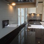coloured glass splashbacks farrow and ball grey