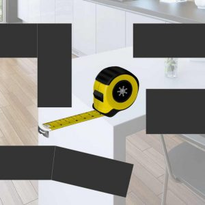 image showing measuring tape and worktop areas