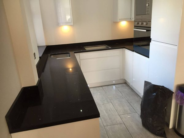 black starlight quartz worktop rock and co
