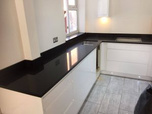 black starlight quartz worktop