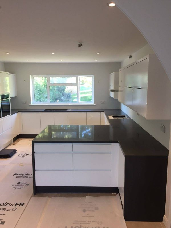 pure grey quartz worktop