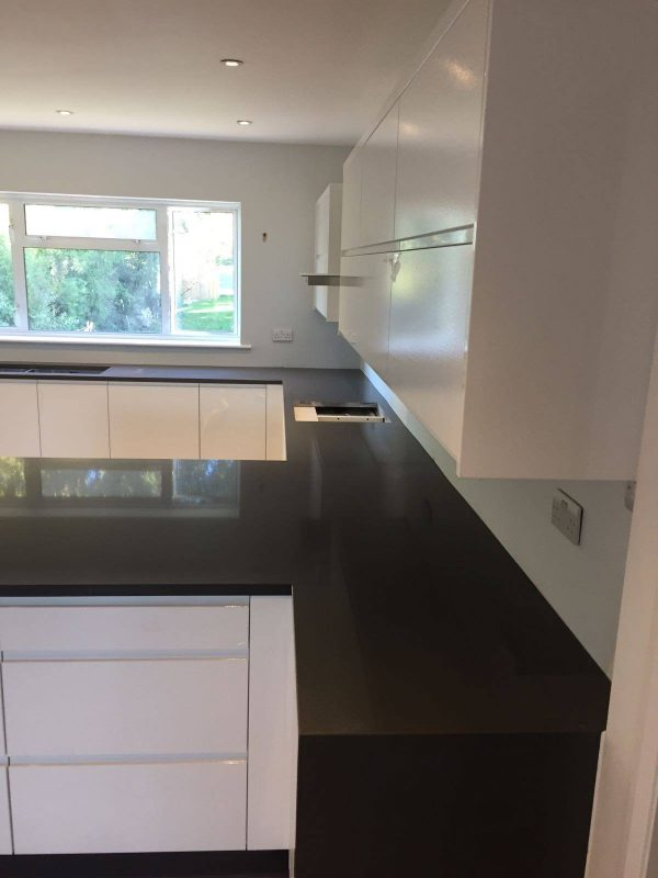 pure grey quartz kitchen worktop