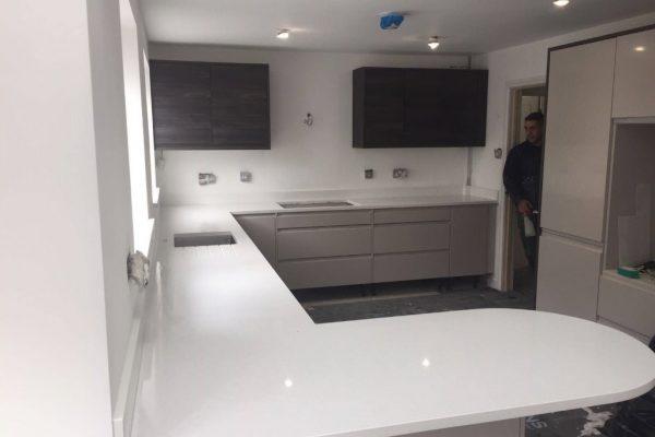 pure white quartz bianco puro urban quartz kitchen worktops