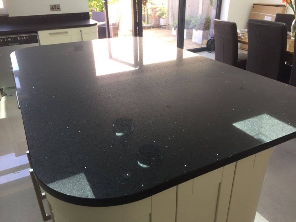 Black Quartz Island Worktop Silestone
