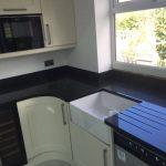 black quartz kitchen worktop silestone