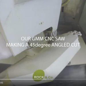 image of video screenshot of cnc bridge saw turning around