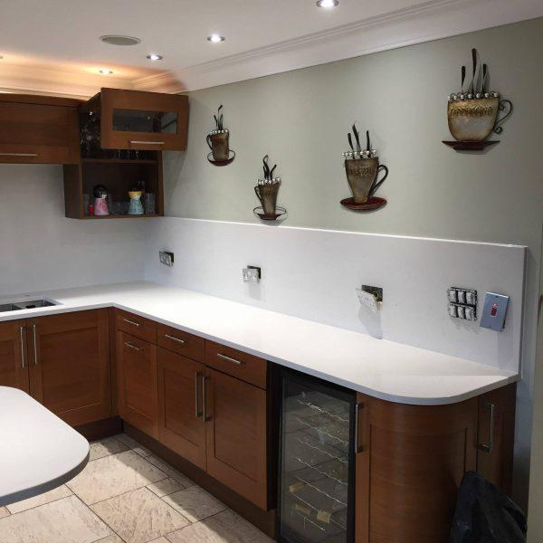carrera urban quartz kitchen worktops installed