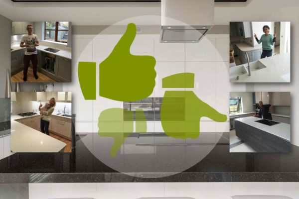 picture of thumbs up and customers with thumbs up
