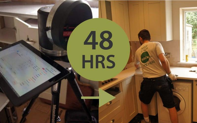 48hr turnaround for kitchen worktops