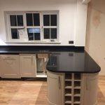 cosmico nero urban quartz fitted in a kitchen