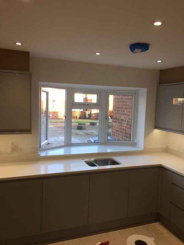 crema pura urban quartz kitchen worktops installed