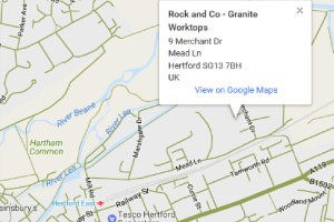 rock and co showroom location on google map screenshot