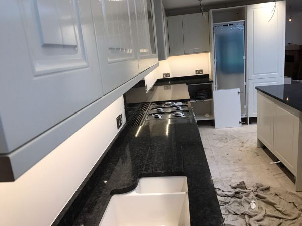 steel grey granite worktops