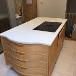 bianco minerale urban quartz worktops installed