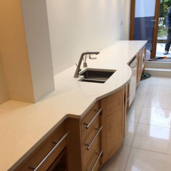 bianco minerale urban quartz worktops installed