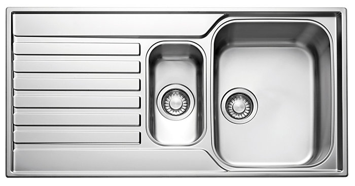 inset stainless steel sink