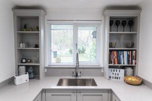 grigio chiaro pura quartz worktops in grey traditional kitchen