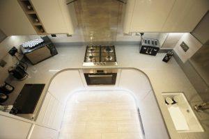 grigio medio stella quartz worktops installed in stevenage with gloss white wren kitchen