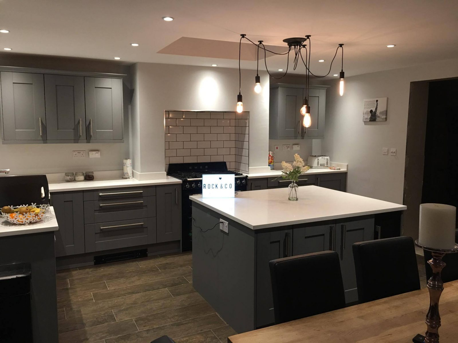 Save space and warm up your kitchen with a plinth heater