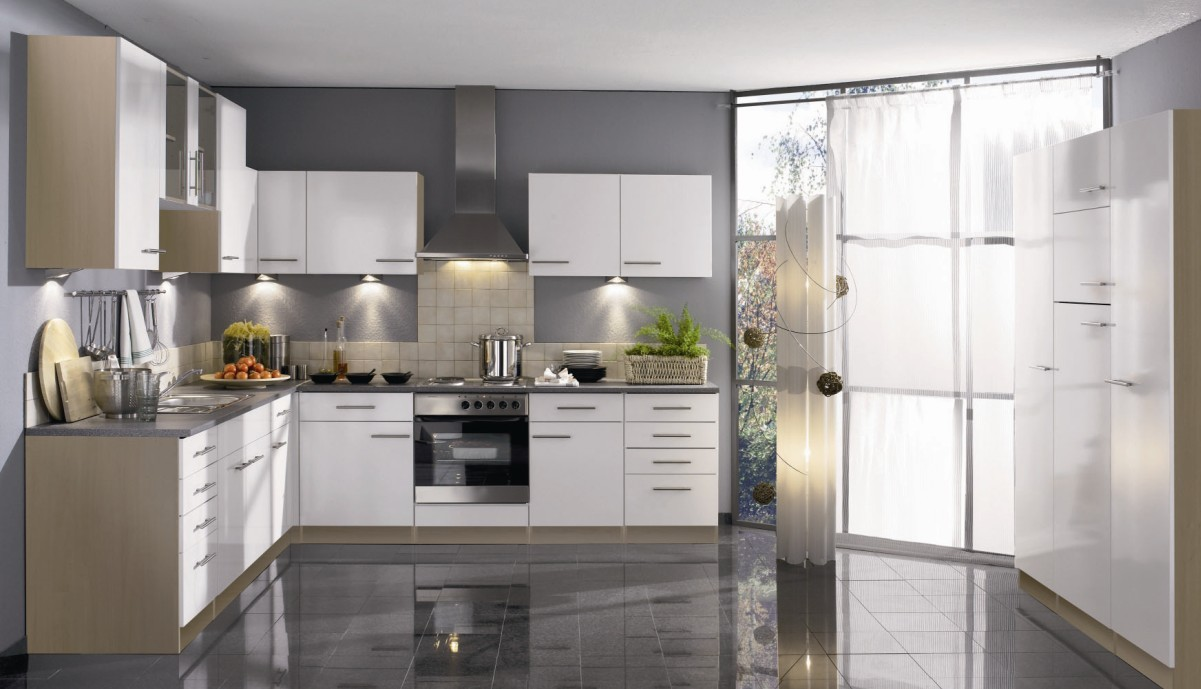 Add a modern edge with a glossy kitchen rock and co for White high gloss kitchen wall units