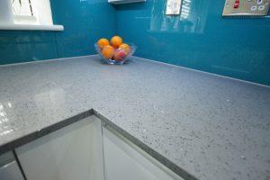grigio medio stella quartz worktops in white kitchen