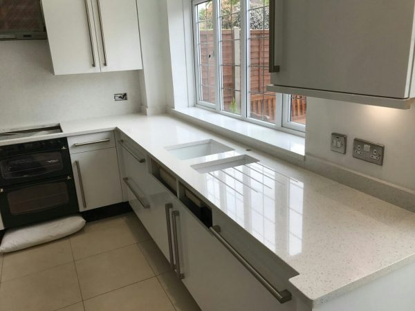 bianco stella white starlight quartz worktops hemel hempstead