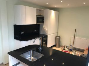 nero stella black starlight quartz worktops