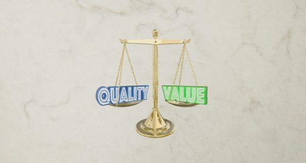 quality vs value
