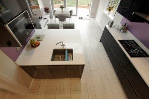 Bianco Stella open plan kitchen