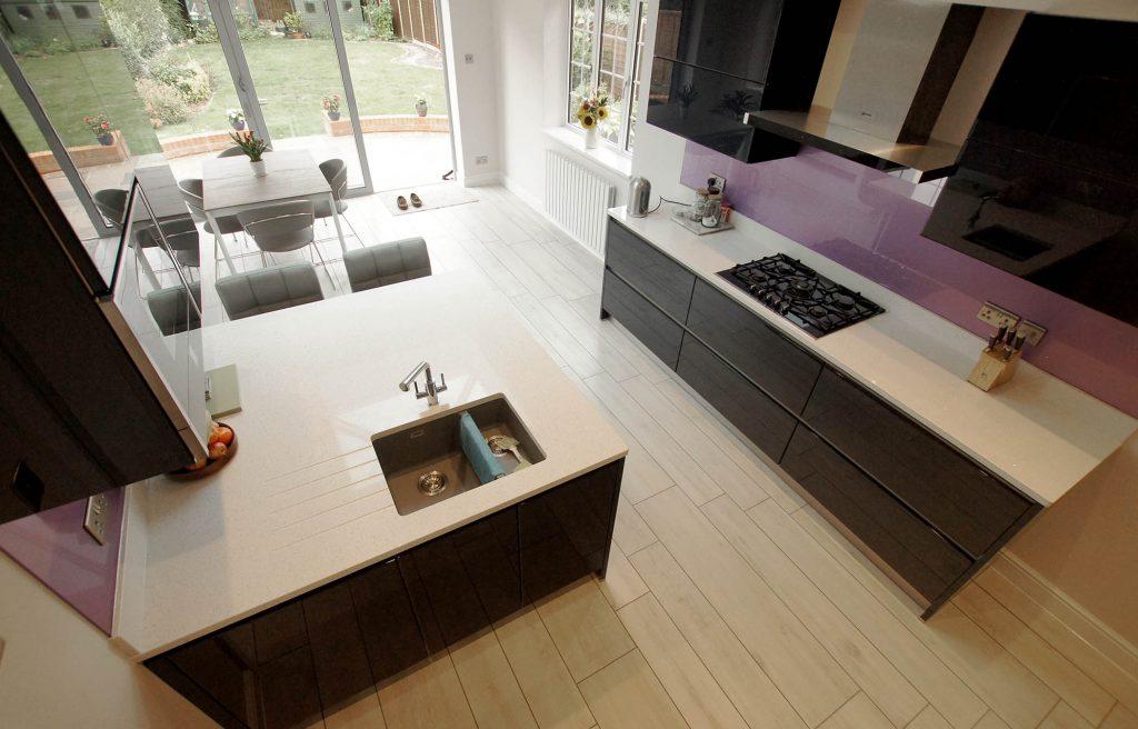 Bianco Stella open plan kitchen