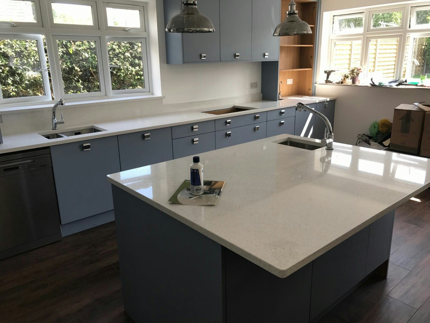Our take on how to add coloured cabinets to your kitchen space