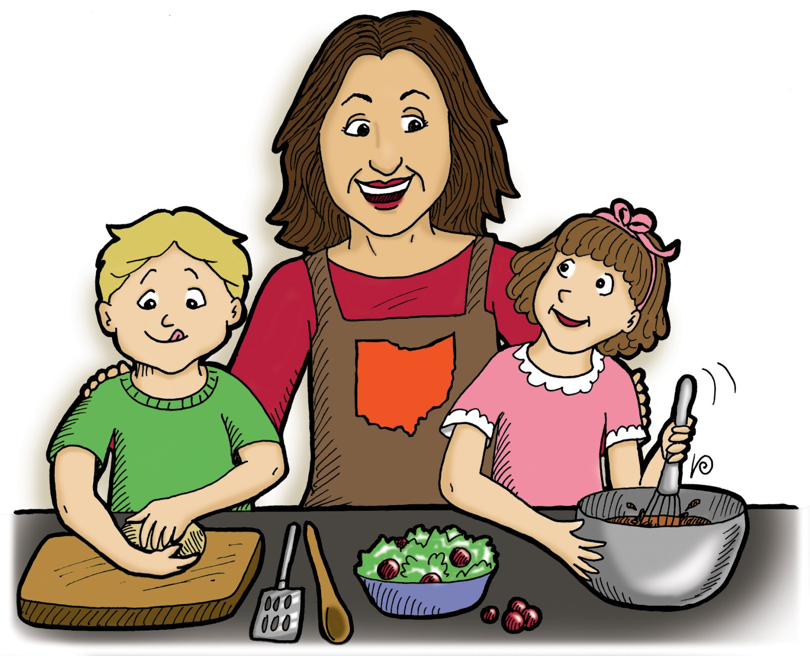 Get Cooking recipes with your Children using your Urban Quartz Worktops