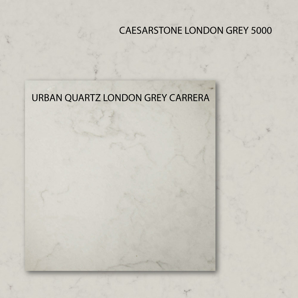 london grey carrera vs casesarstone london grey quartz