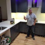 bianco de lusso white quartz worktops buntingford kitchen rock and co