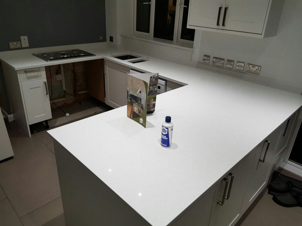 bianco marmo supema white quartz worktops