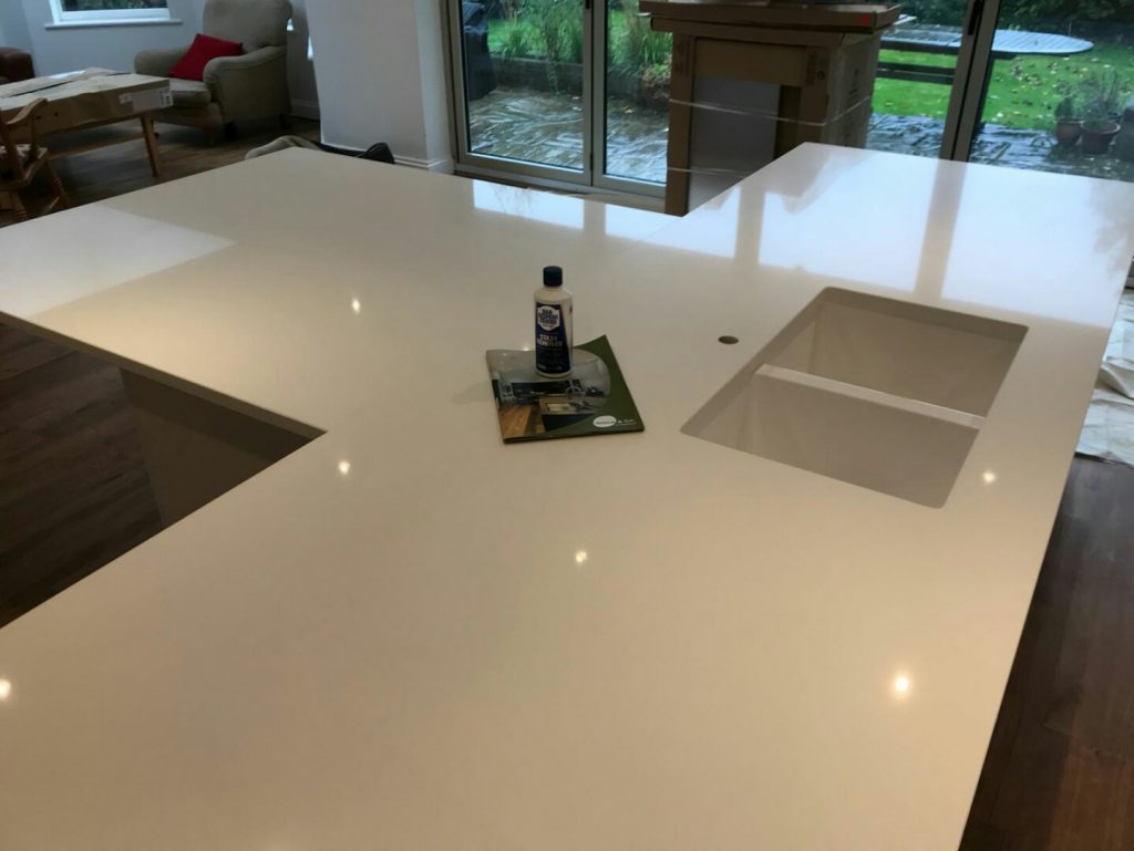 bianco puro white quartz worktops
