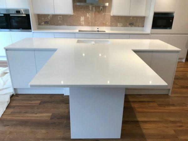 bianco puro white quartz worktops