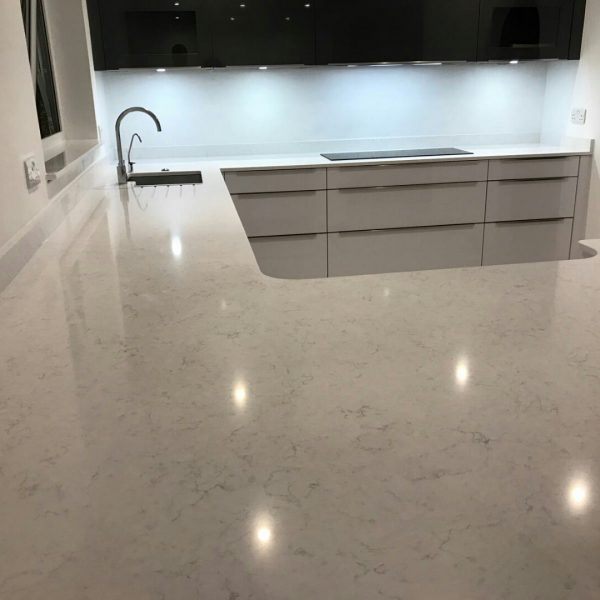 crl white water quartz kitchen worktops ickenham