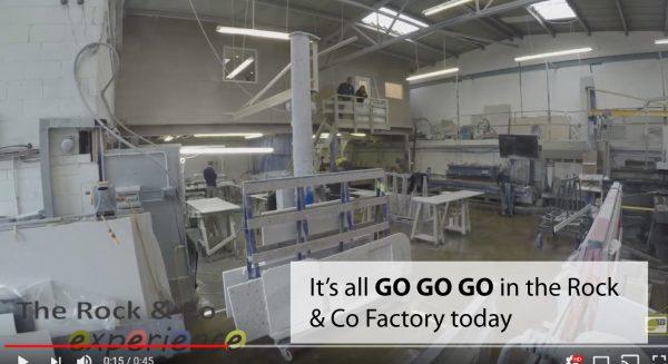 time lapse video of quartz worktop factory