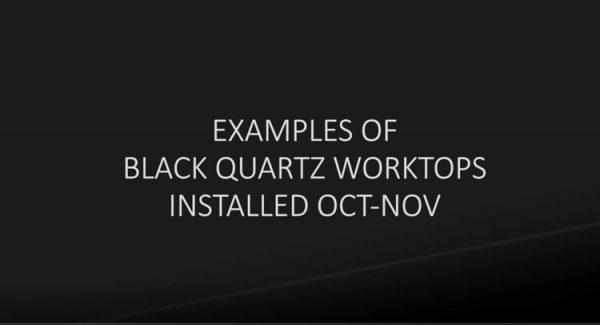black quartz worktop examples