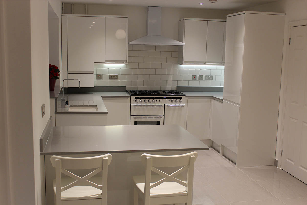 Kitchen of the week… Located in Bishops Stortford, Herts, showcasing the Grigio Chiaro Pura