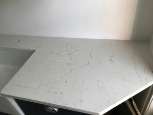 white attica quartz london kitchen rockandco