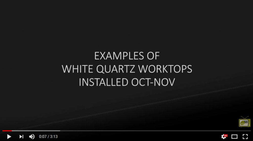 white quartz worktop examples