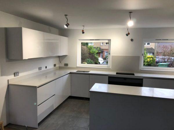 bianco de lusso quartz worktops in st albans kitchen